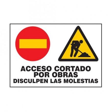 cartel acceso cortado