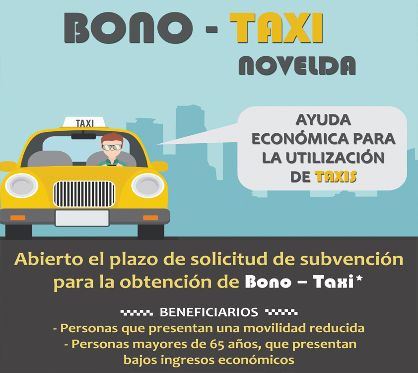 Cartel bono taxi web