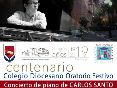 Cartel concierto Carlos Santo