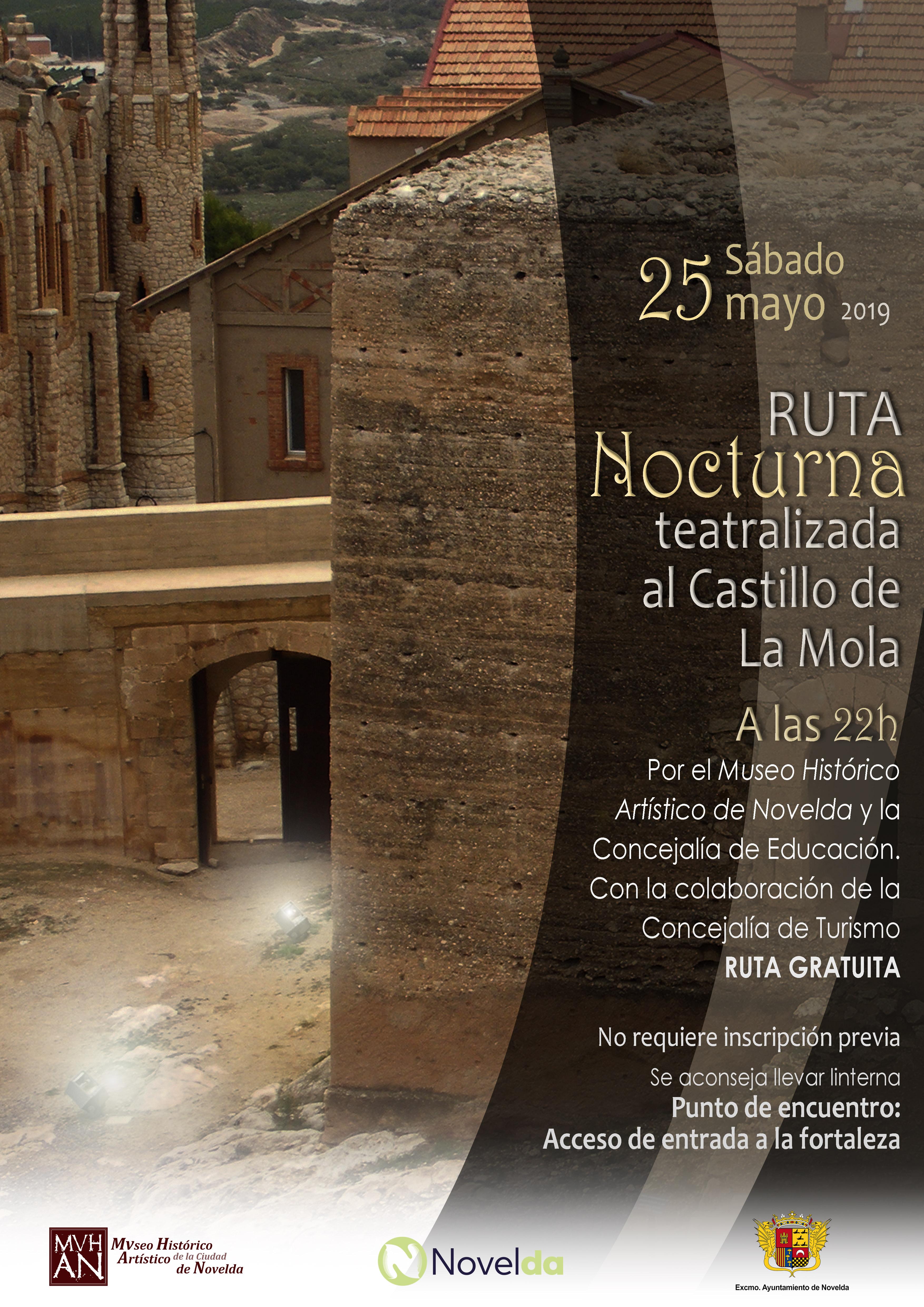 Ruta NOCTURNA castillo Novelda mayo 2019