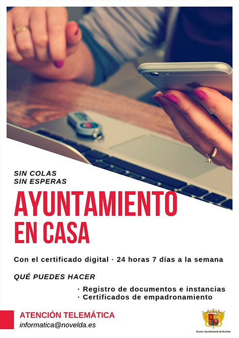 Campaña Ayuntamiento en casa web